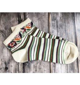 Stripe Low Socks, Large (6.5-10)