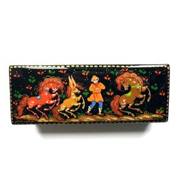 Lacquer Box with Ivan and the Little Horse