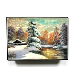 Lacquer Box with Winter Landscape (Large)
