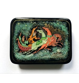 Lacquer Box with Troika in Snowstorm