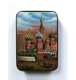 Lacquer Box with St. Basil's at Sunset