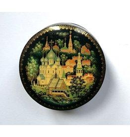 Lacquer Box of Suzdal City (Round)