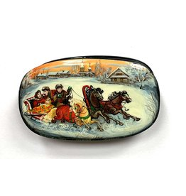 Lacquer Box with Troika at Dusk