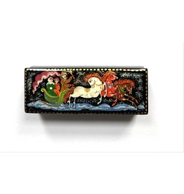 Lacquer Box with Troika (White Horse)