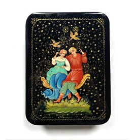 Lacquer Box with Fairytale Couple (Rectangle)