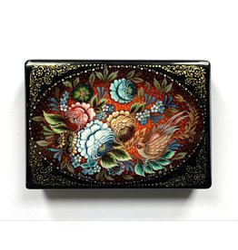 Lacquer Box with Bird and Bouquet