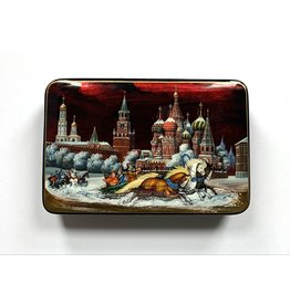 Lacquer Box with Troika on Red Square
