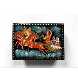 Lacquer Box with Troika (Red Horses)