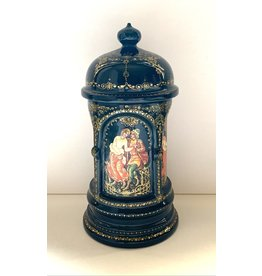 """Lacquer Box with Palekh """"Stages of Love"""""""