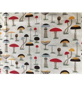Mushroom Linen Tea Towel