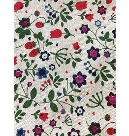 Slavic Wildflowers Print Linen Tea Towel