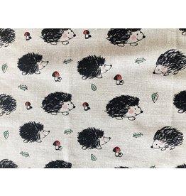 Hedgehog Linen Tea Towel
