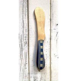 Juniper Wood Butter Spreader (Squares)