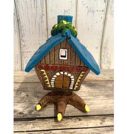 Baba Yaga's House Candle Holder (Blue Roof)
