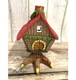 Baba Yaga's House Candle Holder (Red Roof)