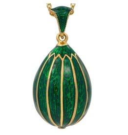 Fabergé Egg Necklace (Green)