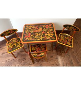 Khokhloma Table and Chairs