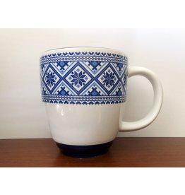 Ukrainian Folk Art Mug (Blue)
