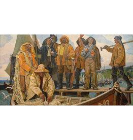 "Vasylchenko ""Fishermen of the Collective Farm"" Notecard"