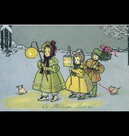 New Year's Postcard (Carol Singers)