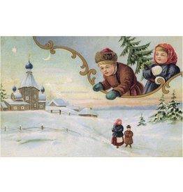 Holiday Postcard (Snowy Scene)