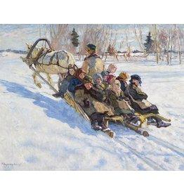 "Bogdanov-Belski ""Children on Sled"" Postcard"