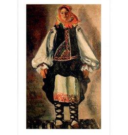 """Simonovich-Efimova """"Girl in National Dress"""" Postcard"""