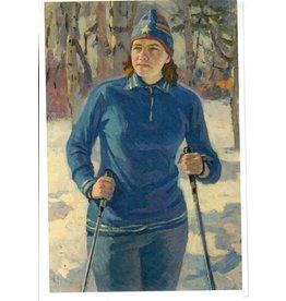 """Samkov """"Cross Country Skier"""" Postcard"""