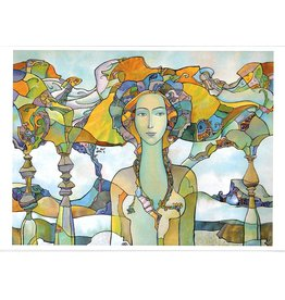 "Dikarev ""Daughter of a Chieftain"" Notecard"