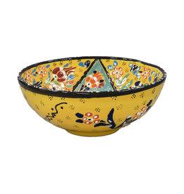 Black Sea Pottery Medium Relief Bowl (Yellow)