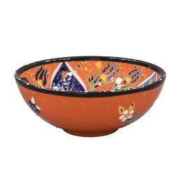 Black Sea Pottery Medium Relief Bowl (Orange)