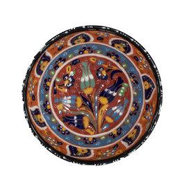 Black Sea Pottery Medium Relief Bowl (Red)