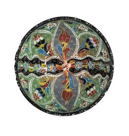 Black Sea Pottery Medium Relief Bowl (Teal)