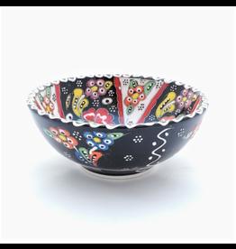 Black Sea Pottery Medium Relief Bowl (Black)