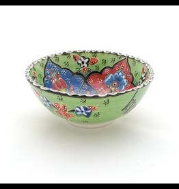 Black Sea Pottery Medium Relief Bowl (Green)