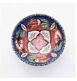 Black Sea Pottery Medium Relief Bowl (Dark Blue)