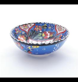 Black Sea Pottery Medium Relief Bowl (Light Blue)