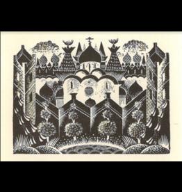 """Brodovitch """"Brief History of Moscovia (Church)"""" Postcard"""