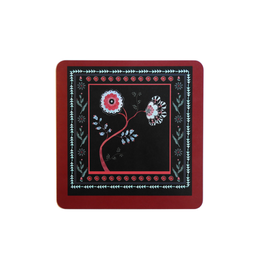 """Alexandra Tolstoy """"Midnight Blossom"""" Small Placemat"""