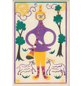 "Brodovitch ""Untitled (Shepherd with Flute)"" Postcard"