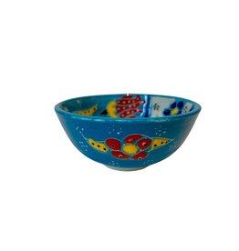 Black Sea Pottery Small Relief Bowl (Light Blue)
