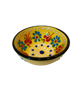 Black Sea Pottery Small Relief Bowl (Yellow)