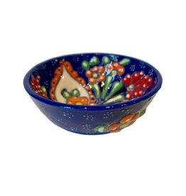 Black Sea Pottery Small Relief Bowl (Dark Blue)