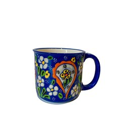 Black Sea Pottery Relief Mug (Dark Blue)