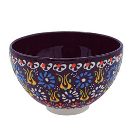 Black Sea Pottery Footed Relief Bowl (Black)