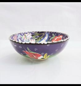 Black Sea Pottery Medium Relief Bowl (Purple)