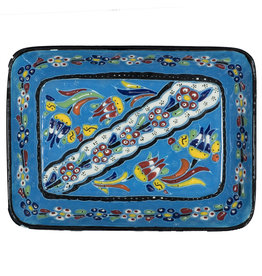 Black Sea Pottery Large Relief Dish (Light Blue)