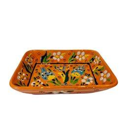 Black Sea Pottery Large Relief Dish (Orange)