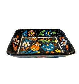 Black Sea Pottery Large Relief Dish (Black)