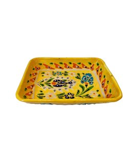 Black Sea Pottery Large Relief Dish (Yellow)
